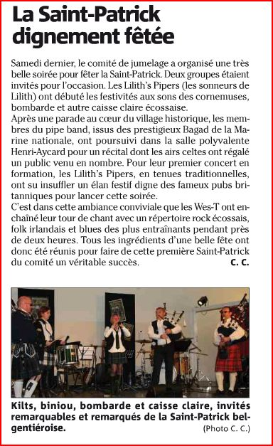 Article sur les lilith's pipers