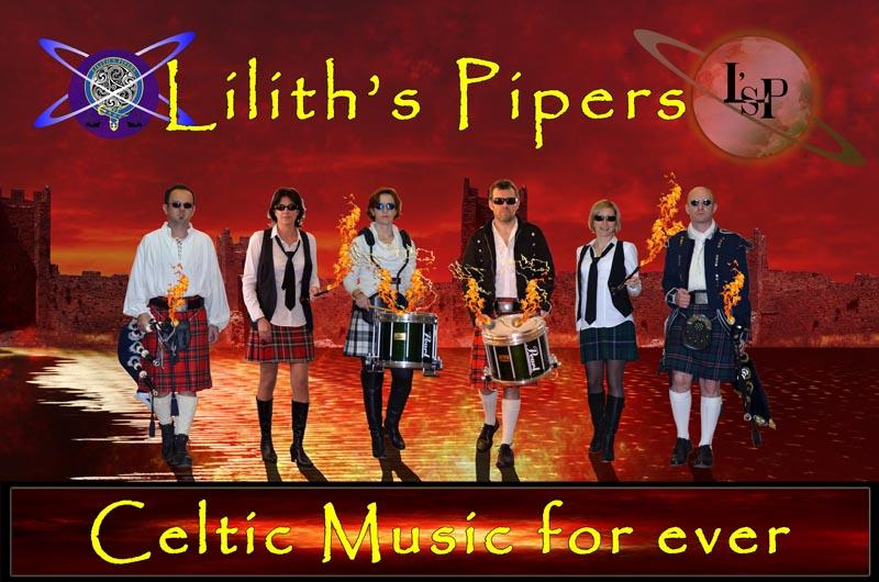 Lilit's Pipers Groupe de musique celtique toulonnais - Cornemuses bombardes percussions pour the Scottish National Day 2014