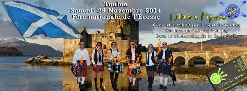 Affiche Lilith's Pipers Face Book  Cornemuse Toulon