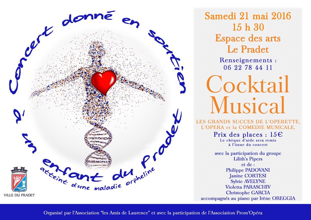 Affiche COCKTAIL MUSICAL ESPACE DES ARTS LE PRADET VAR Toulon Cornemuses groupe celtique Lilith's Pipers