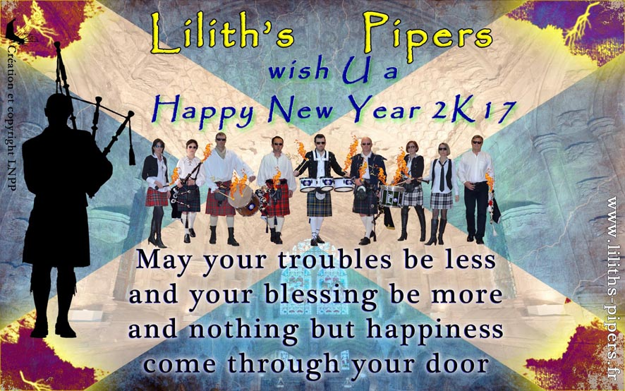 Voeux nouvel an 2017 Lilith's Pipers